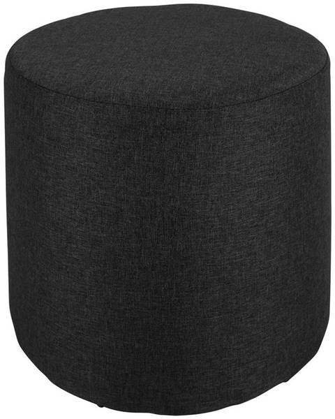 Čierna taburetka Möbelix