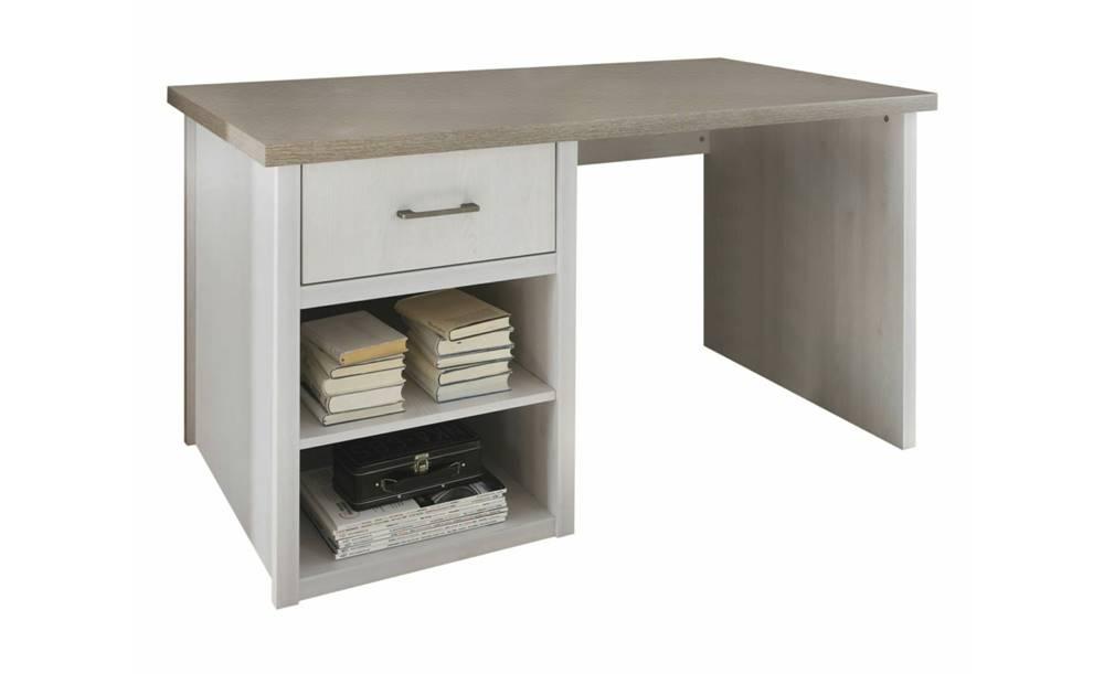 Sconto Písací stôl PARVATI pínia biela/dub truffel