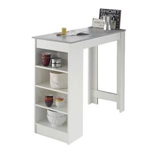 Barový stôl MOJITO beton/biela