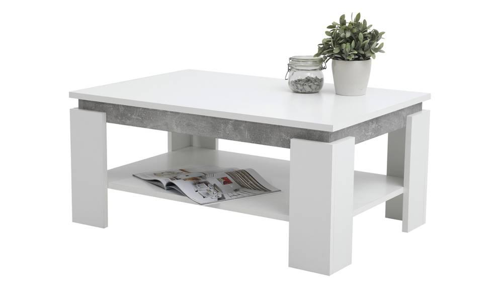 Sconto Konferenčný stolík TIM II biela/betón